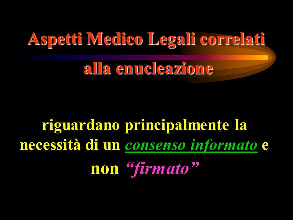 Aspetti Medico Legali correlati