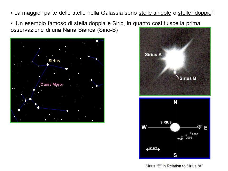 La maggior parte delle stelle nella Galassia sono stelle singole o stelle doppie .