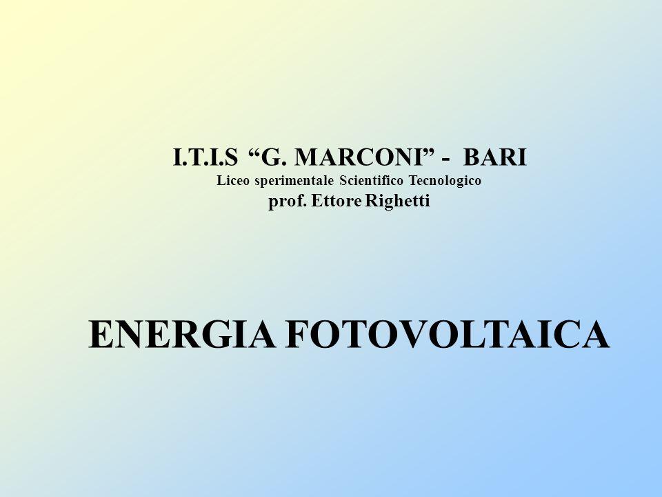 I.T.I.S G. MARCONI - BARI Liceo sperimentale Scientifico Tecnologico prof.