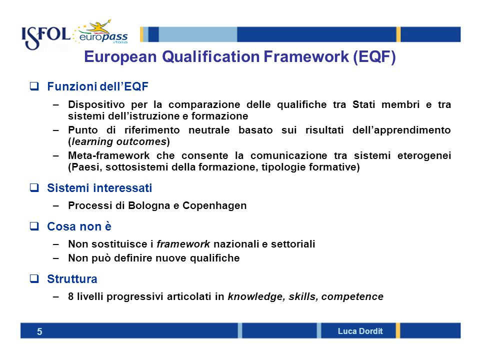 European Qualification Framework (EQF)