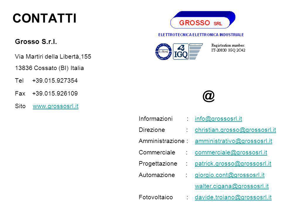 CONTATTI @ Grosso S.r.l. Via Martiri della Libertà,155