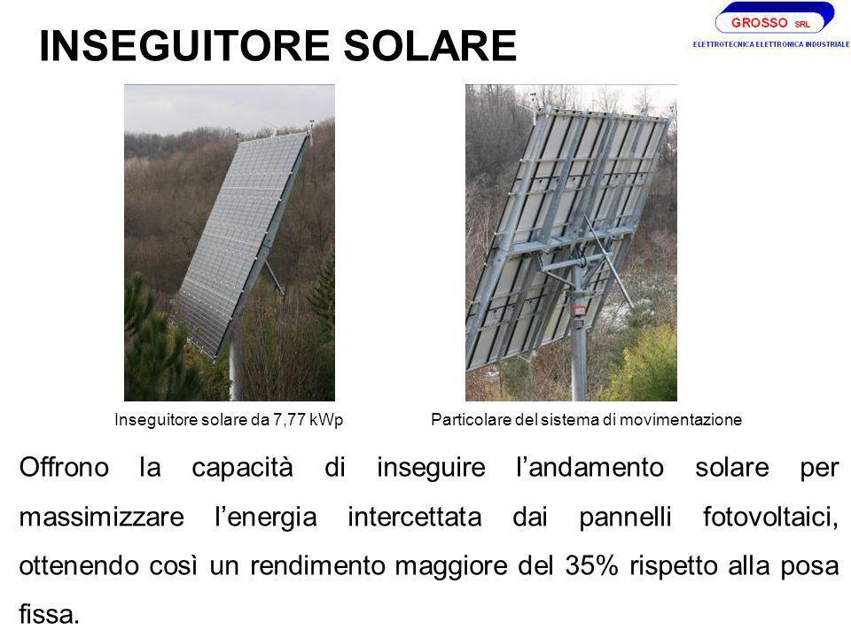 INSEGUITORE SOLARE Inseguitore solare da 7,77 kWp. Particolare del sistema di movimentazione.