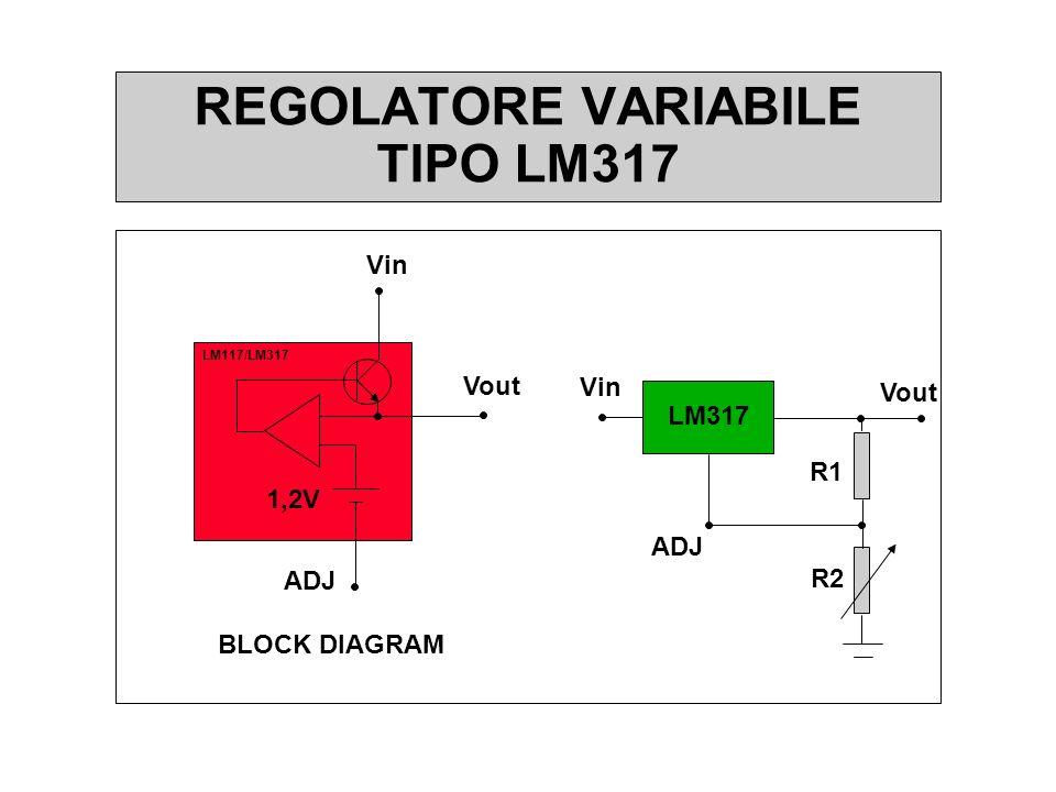 REGOLATORE VARIABILE TIPO LM317