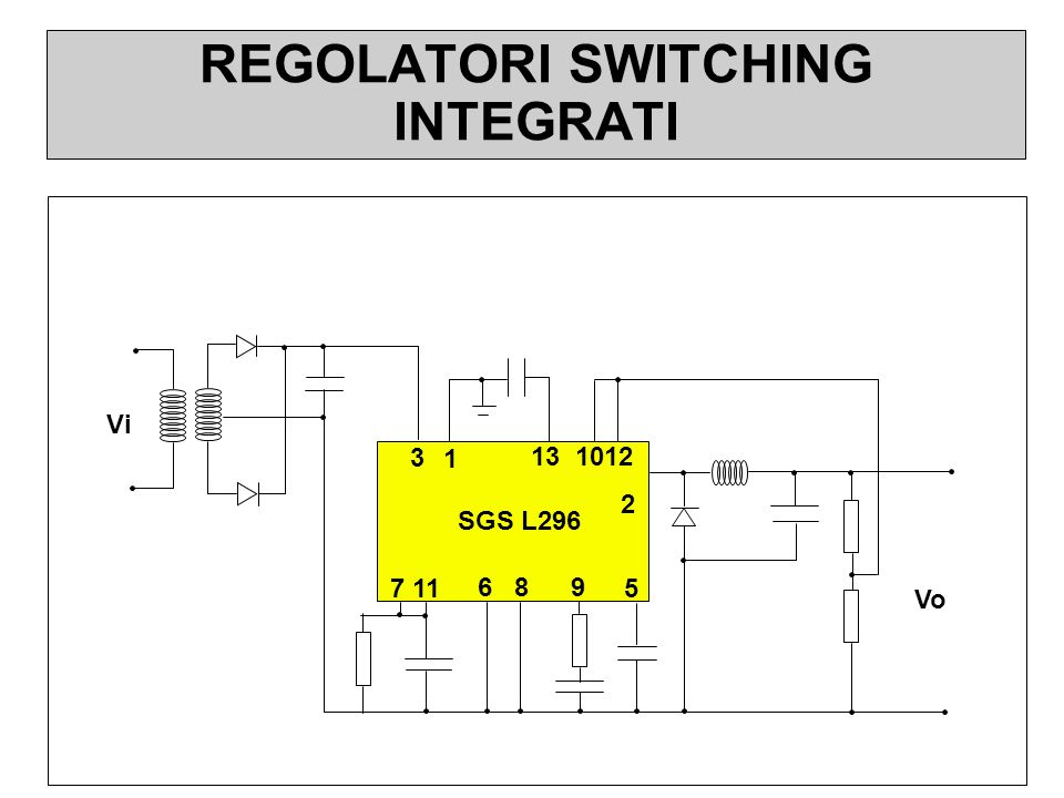 REGOLATORI SWITCHING INTEGRATI