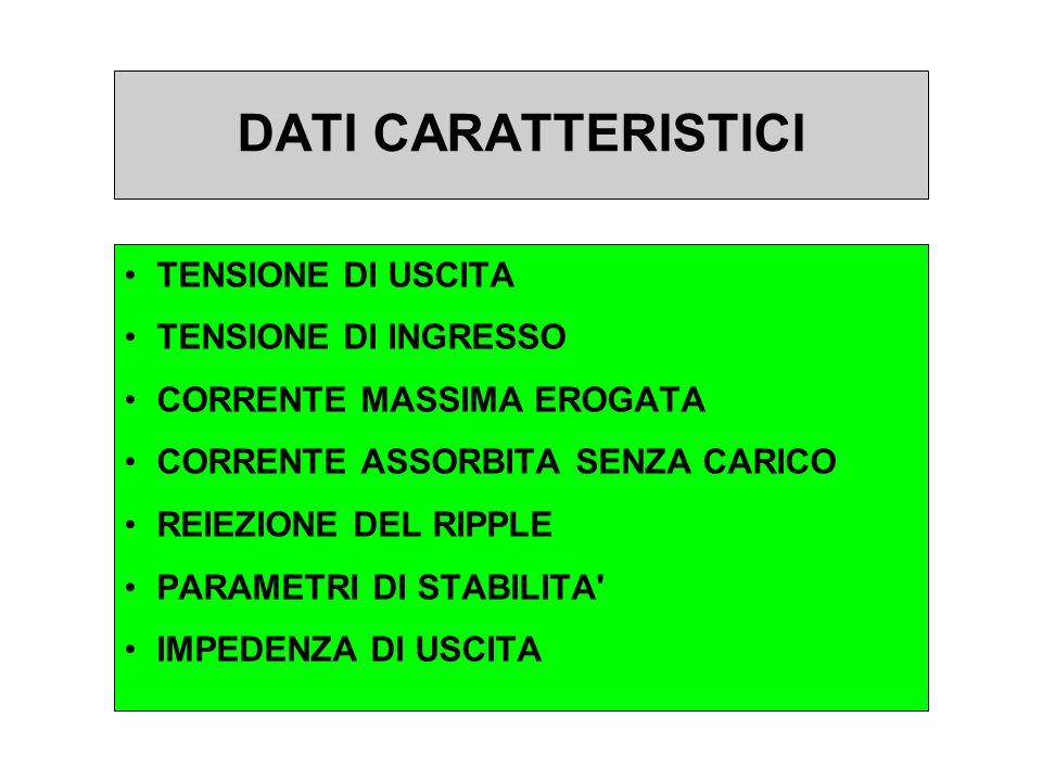 DATI CARATTERISTICI TENSIONE DI USCITA TENSIONE DI INGRESSO