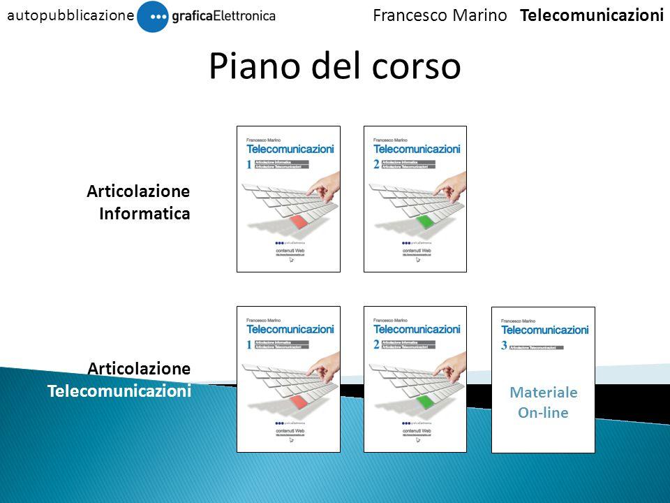 Piano del corso Francesco Marino Telecomunicazioni Articolazione