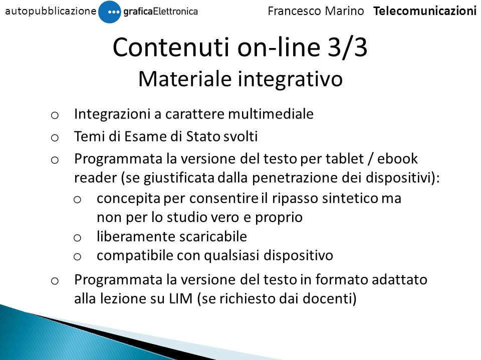 Materiale integrativo