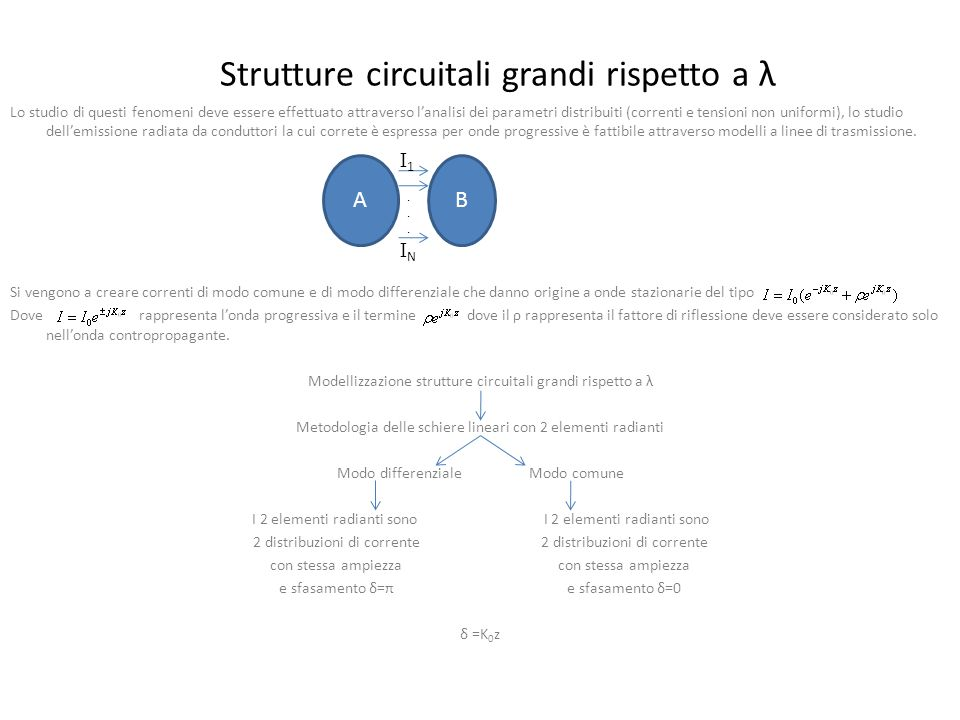 Strutture circuitali grandi rispetto a λ