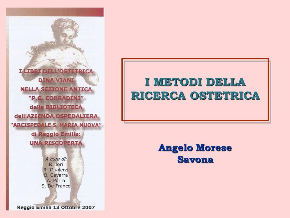 I METODI DELLA RICERCA OSTETRICA
