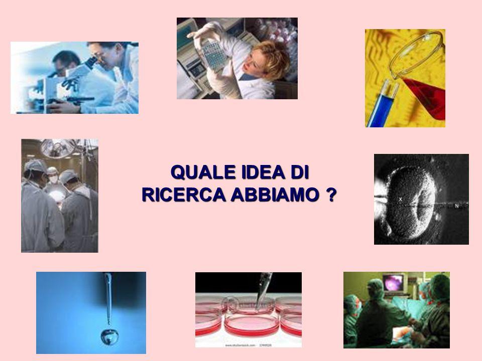 QUALE IDEA DI RICERCA ABBIAMO