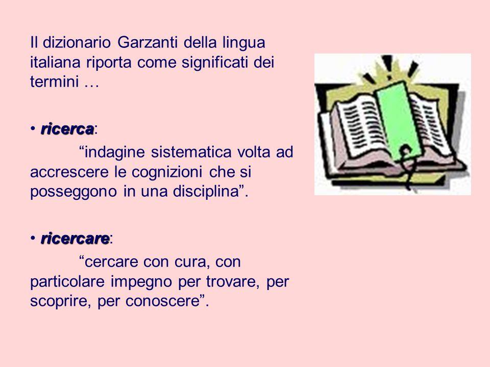 Il dizionario Garzanti della lingua italiana riporta come significati dei termini …