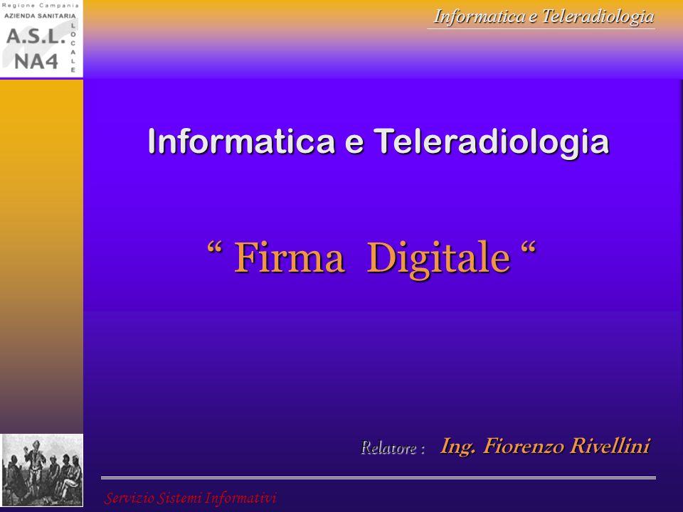Firma Digitale Informatica e Teleradiologia