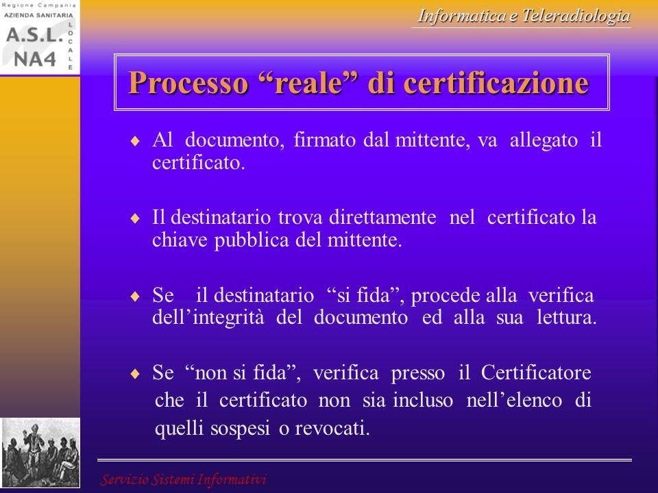 Processo reale di certificazione