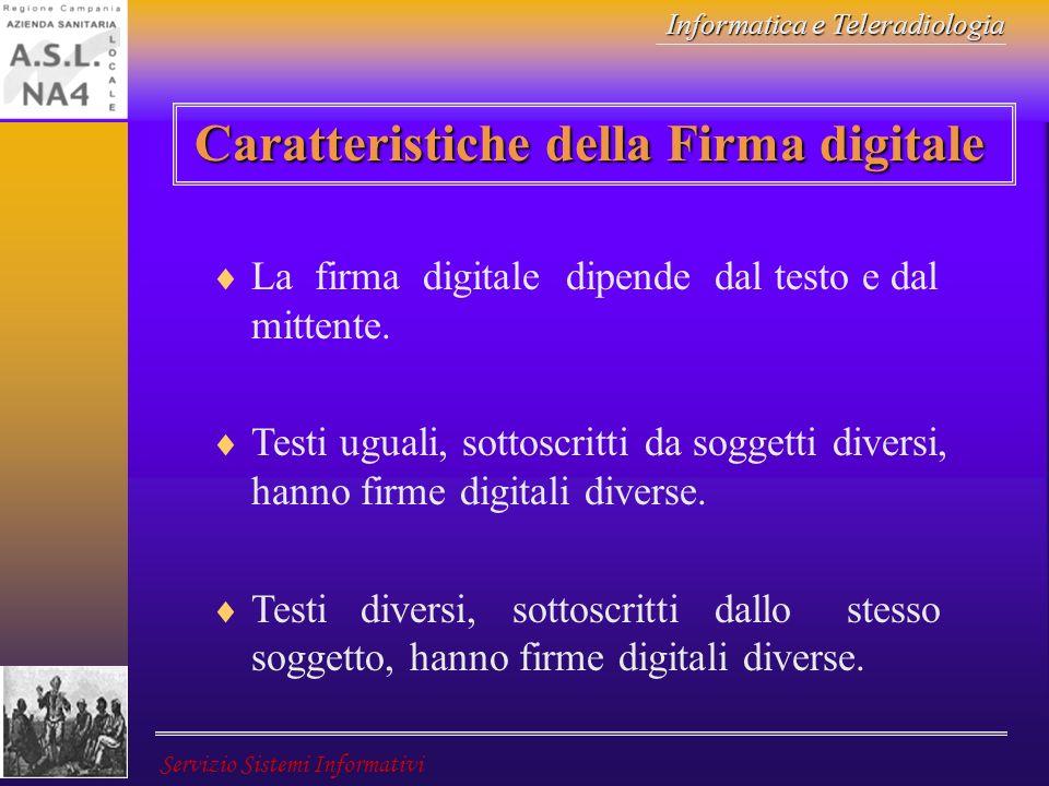 Caratteristiche della Firma digitale