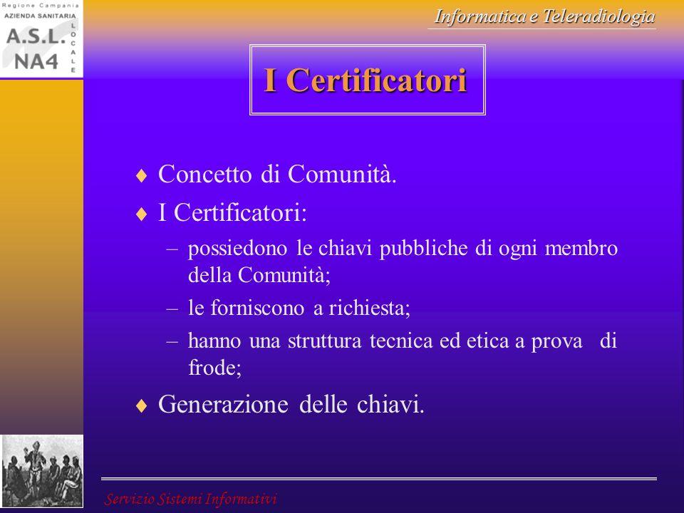 I Certificatori Concetto di Comunità. I Certificatori: