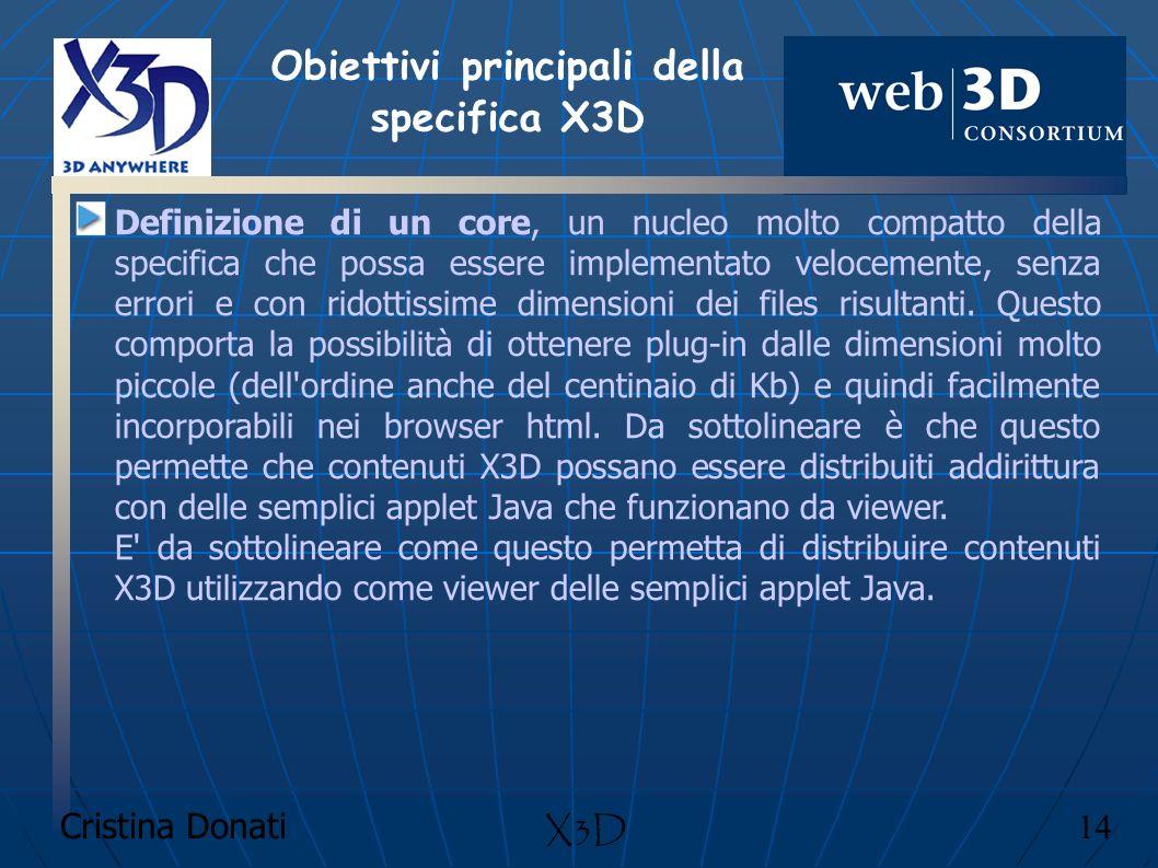Obiettivi principali della specifica X3D