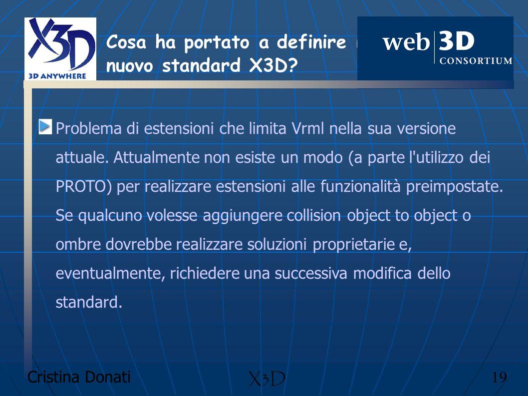 Cosa ha portato a definire il nuovo standard X3D