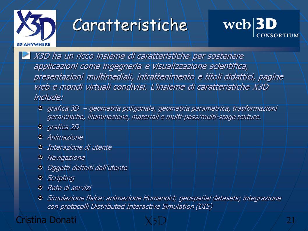 Caratteristiche X3D Cristina Donati 21