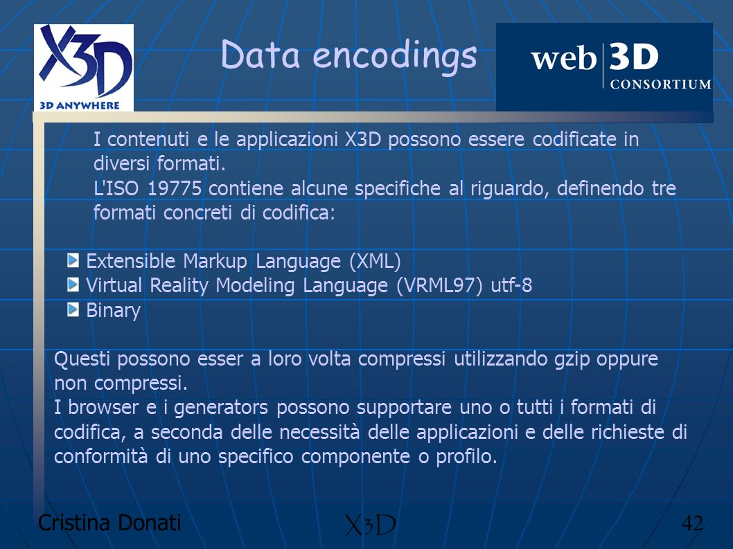 Data encodings X3D Cristina Donati 42