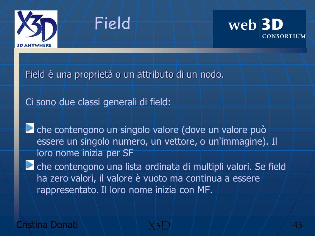Field Field è una proprietà o un attributo di un nodo.