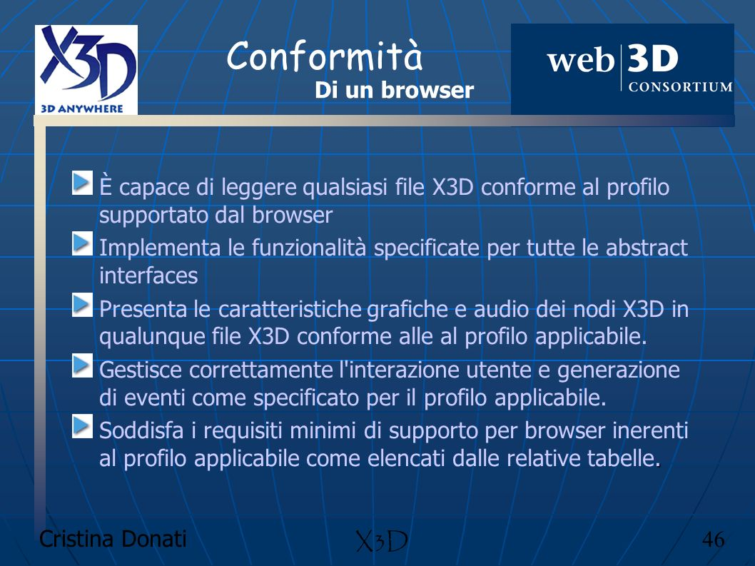 Conformità Di un browser