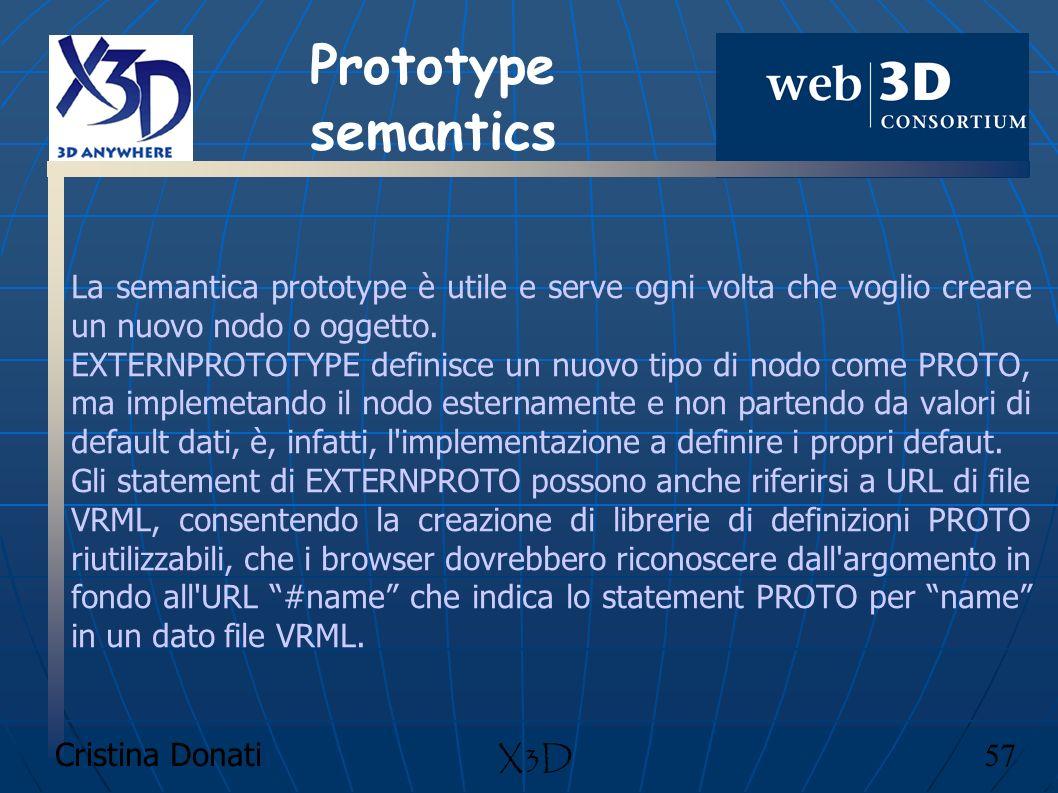 Prototype semantics La semantica prototype è utile e serve ogni volta che voglio creare un nuovo nodo o oggetto.