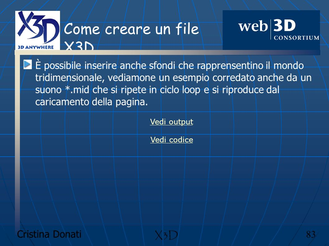 Come creare un file X3D