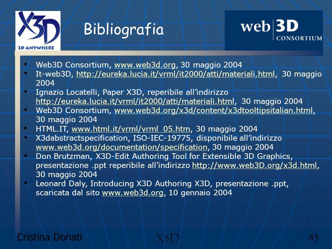 Bibliografia X3D Cristina Donati 85