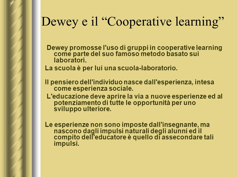 Dewey e il Cooperative learning