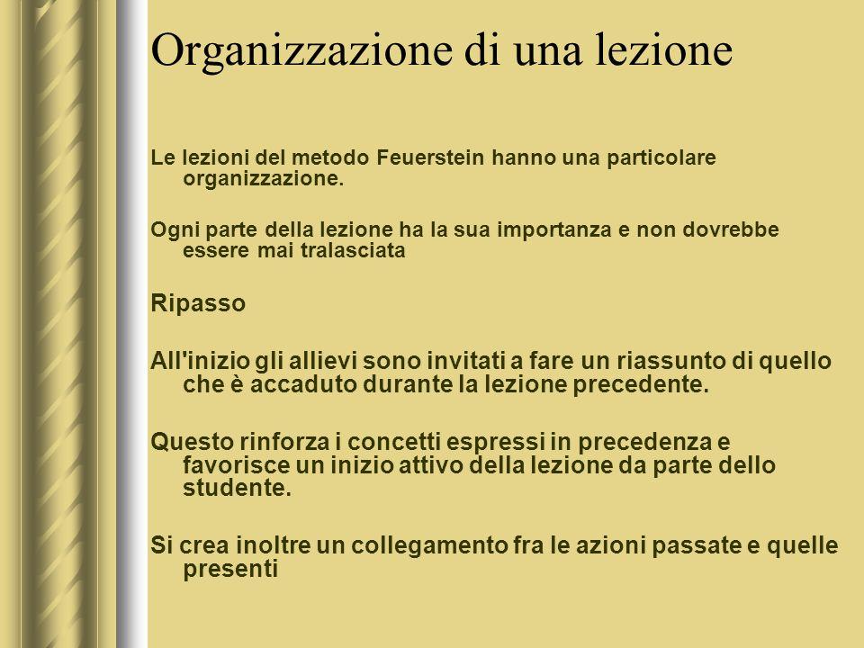 Organizzazione di una lezione