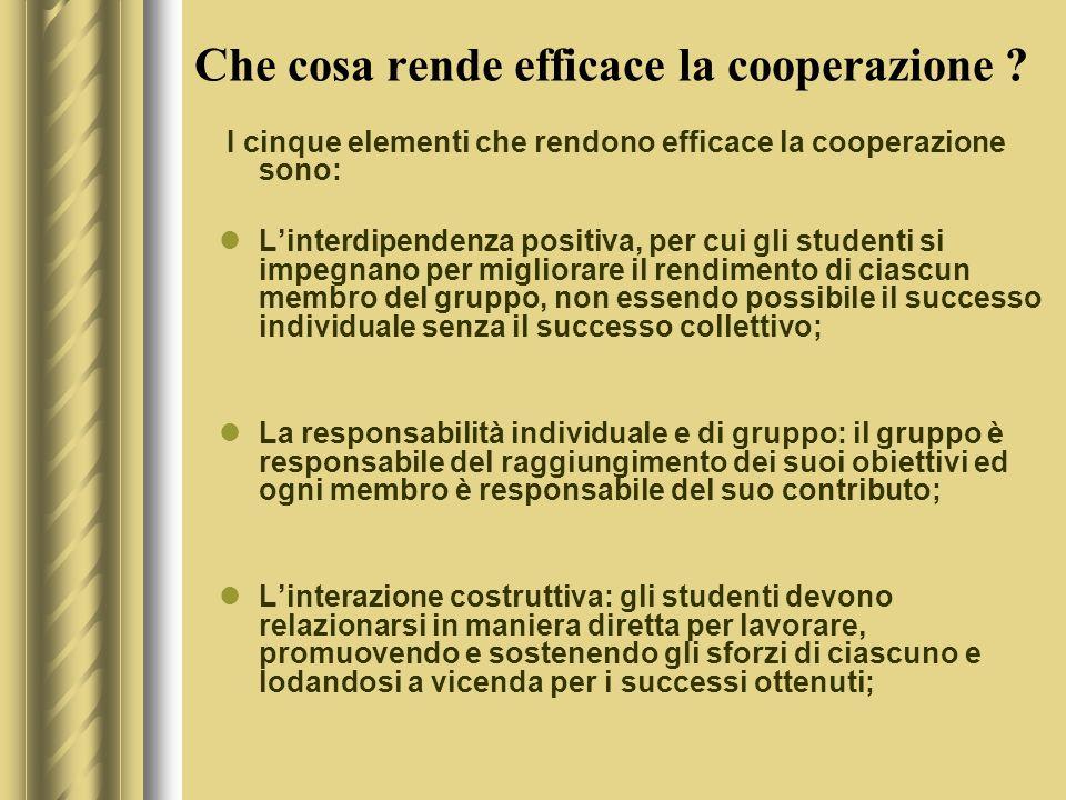 Che cosa rende efficace la cooperazione