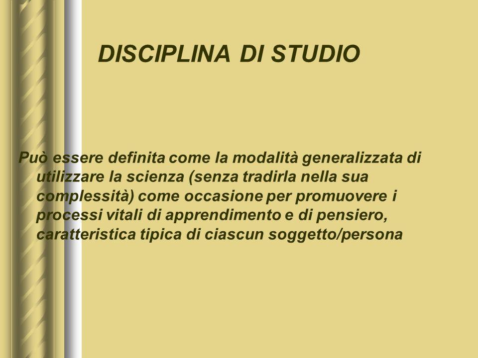DISCIPLINA DI STUDIO