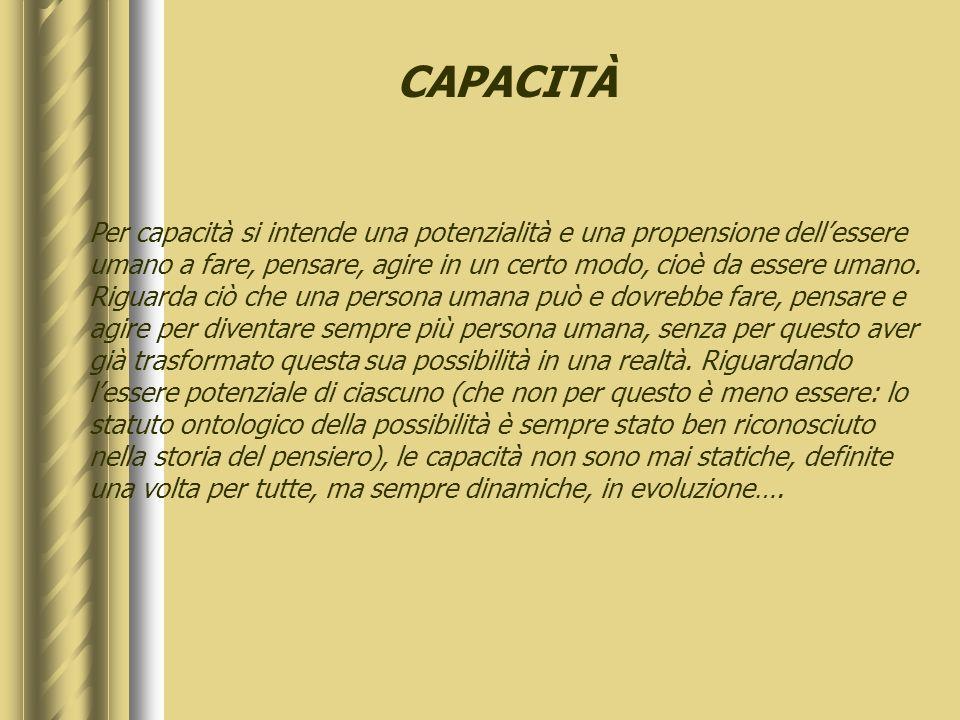 CAPACITÀ