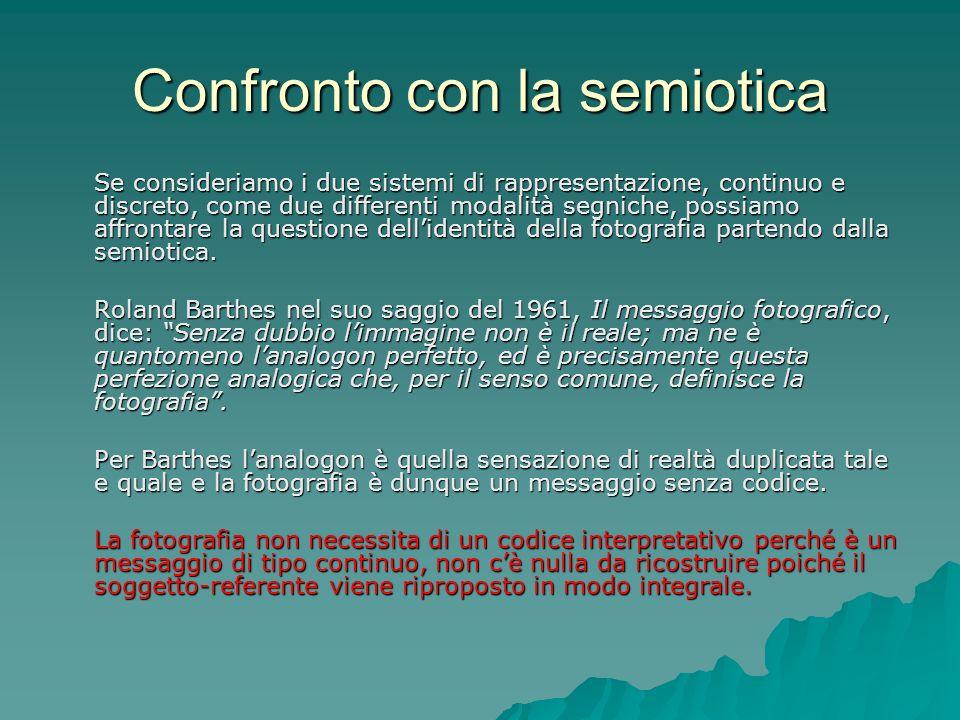 Confronto con la semiotica