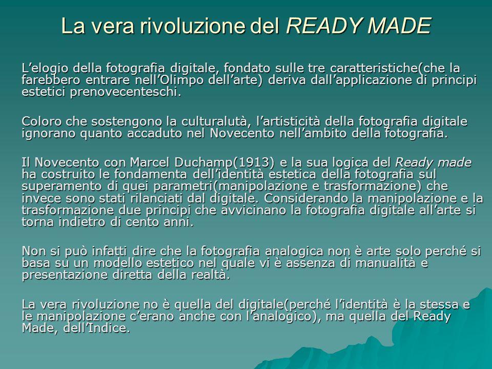 La vera rivoluzione del READY MADE