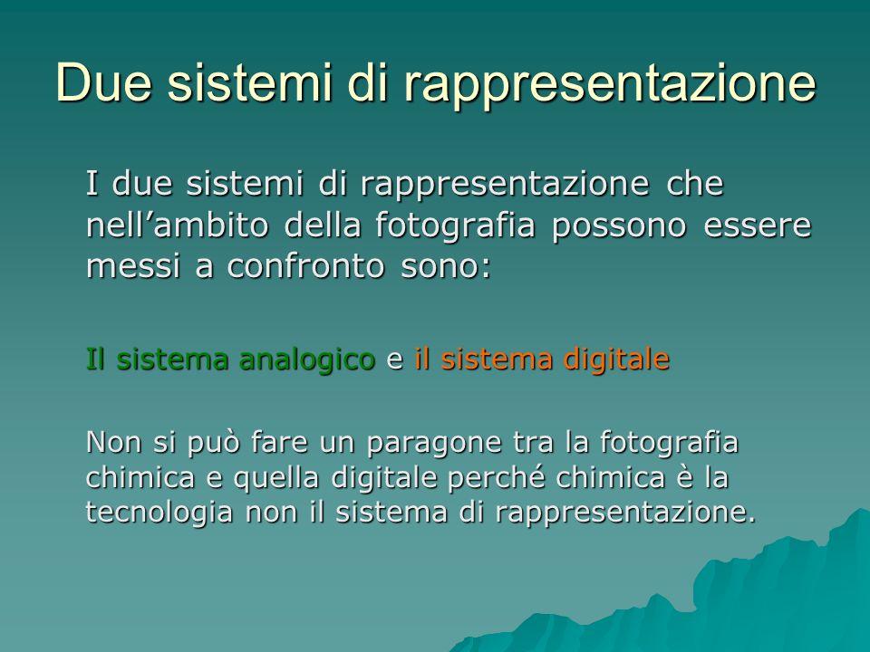 Due sistemi di rappresentazione