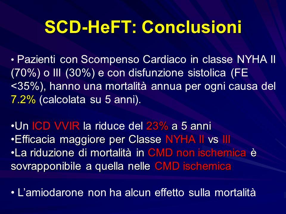 SCD-HeFT: Conclusioni