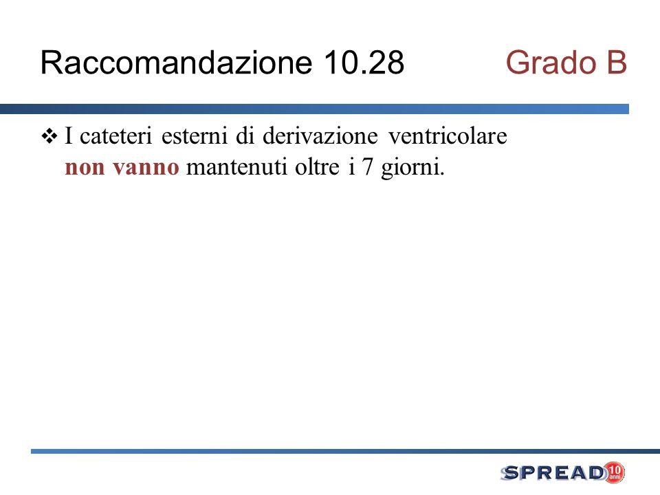 Raccomandazione 10.28 Grado B