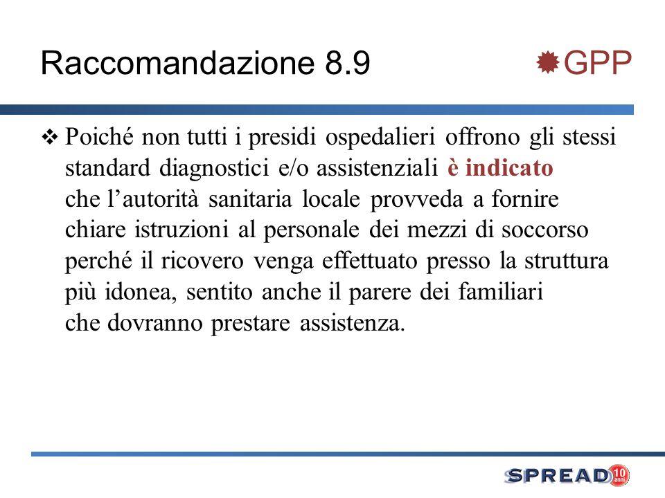 Raccomandazione 8.9 GPP