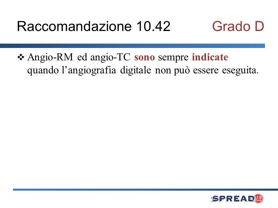 Raccomandazione 10.42 Grado D