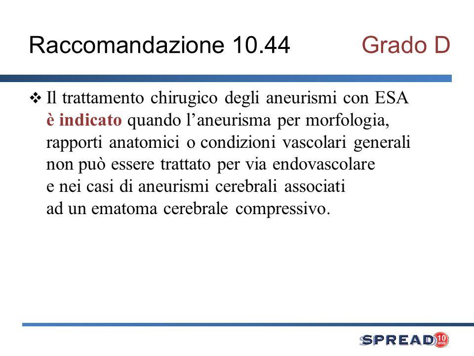 Raccomandazione 10.44 Grado D