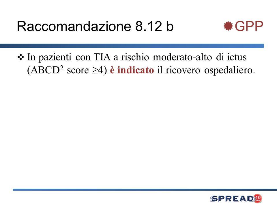 Raccomandazione 8.12 b GPP