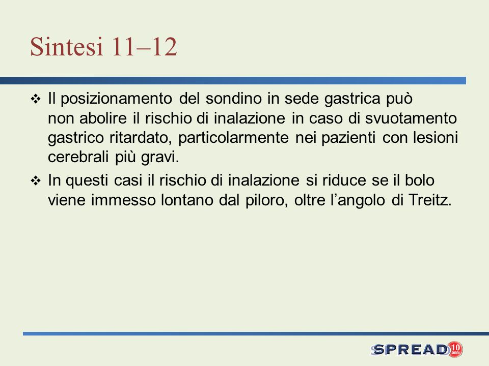 Sintesi 11–12