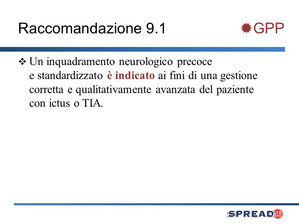 Raccomandazione 9.1 GPP