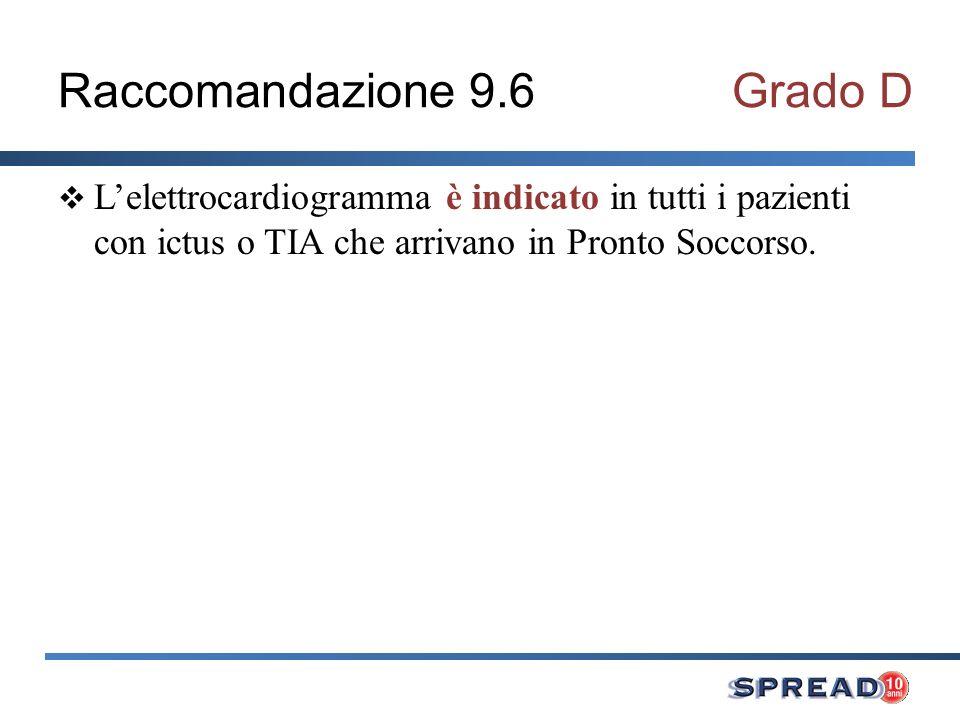 Raccomandazione 9.6 Grado D
