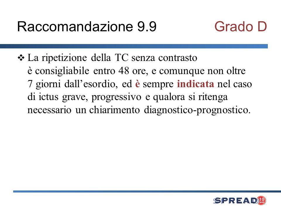 Raccomandazione 9.9 Grado D