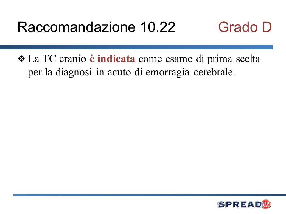 Raccomandazione 10.22 Grado D
