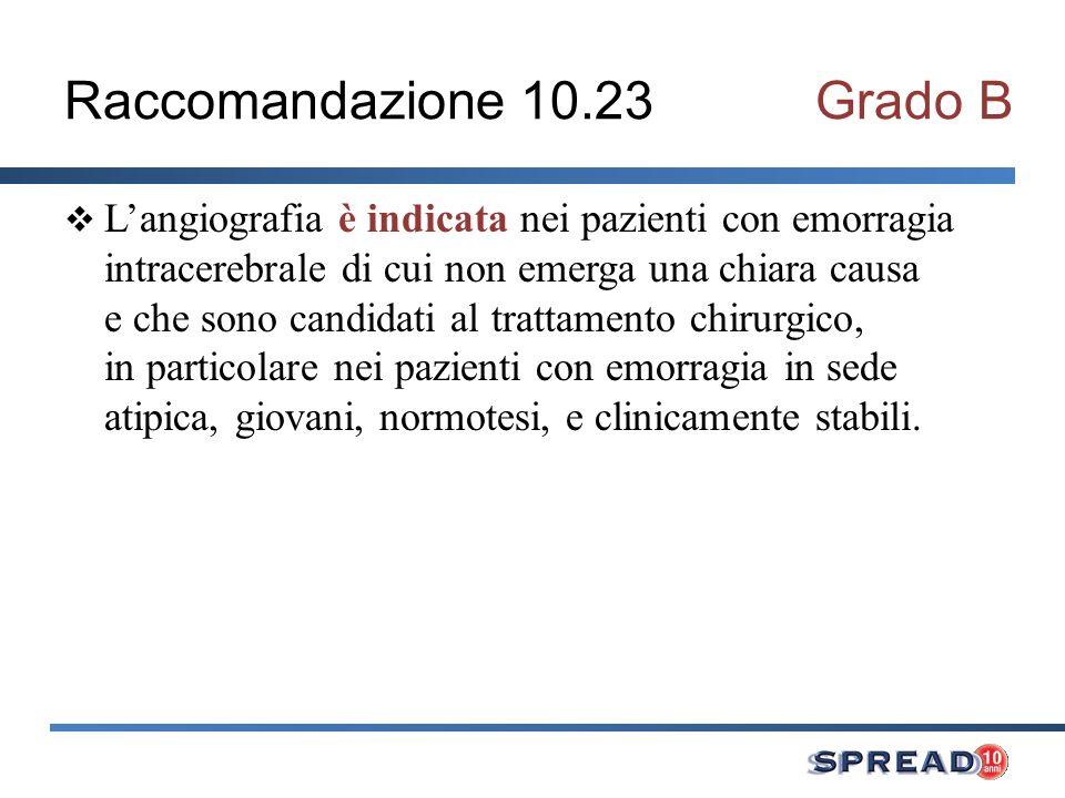 Raccomandazione 10.23 Grado B