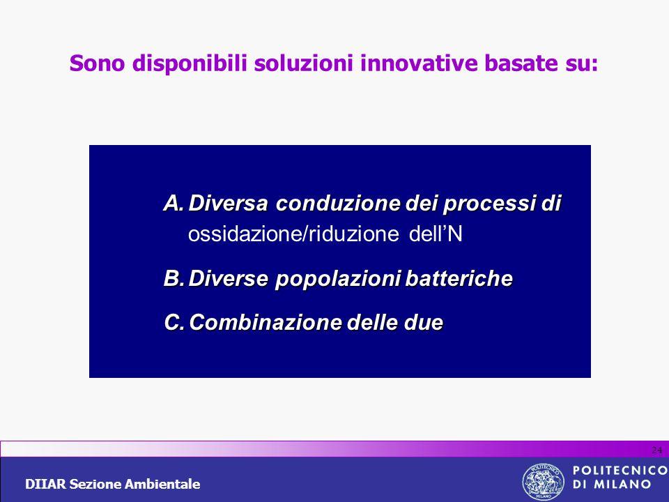Sono disponibili soluzioni innovative basate su: