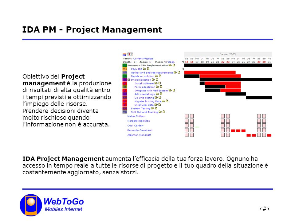 IDA PM - Project Management